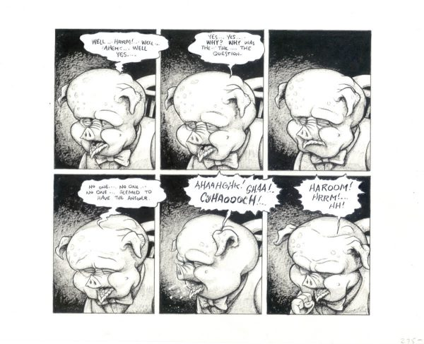 3 Finger Prints Original Art Rich Koslowski