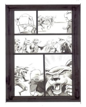 BB Wolf and the Three LPs Original Art