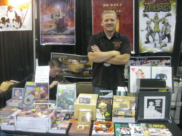 Rich Koslowski at comic convention table